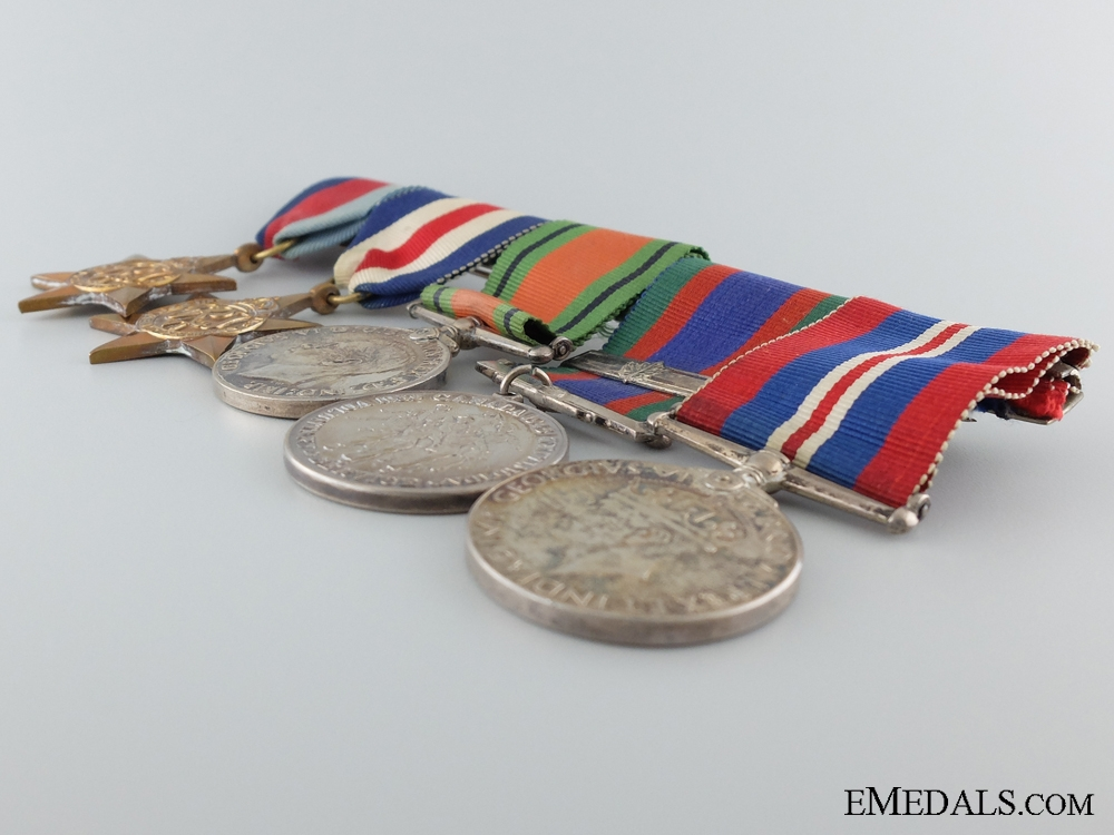 A Canadian Second War Medal Bar