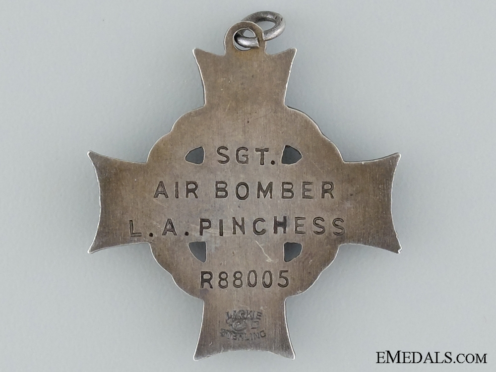 An RCAF Memorial Cross; Lost off Pembrokeshire Coast 1943