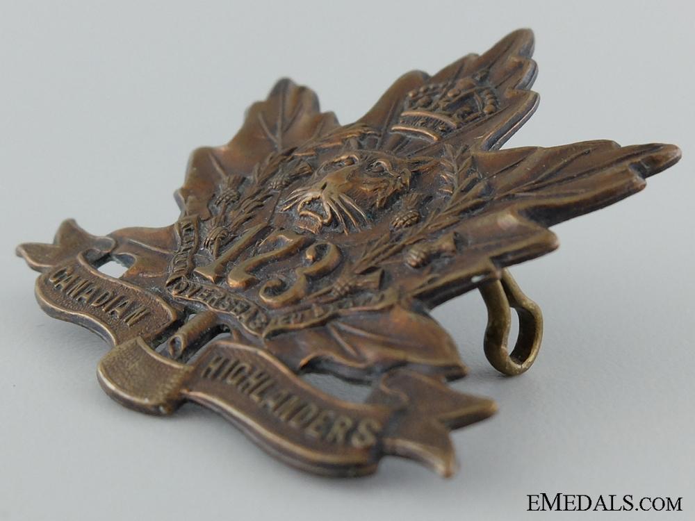 "WWI 173 Infantry Battalion ""Canadian Highlanders"" Cap Badge"