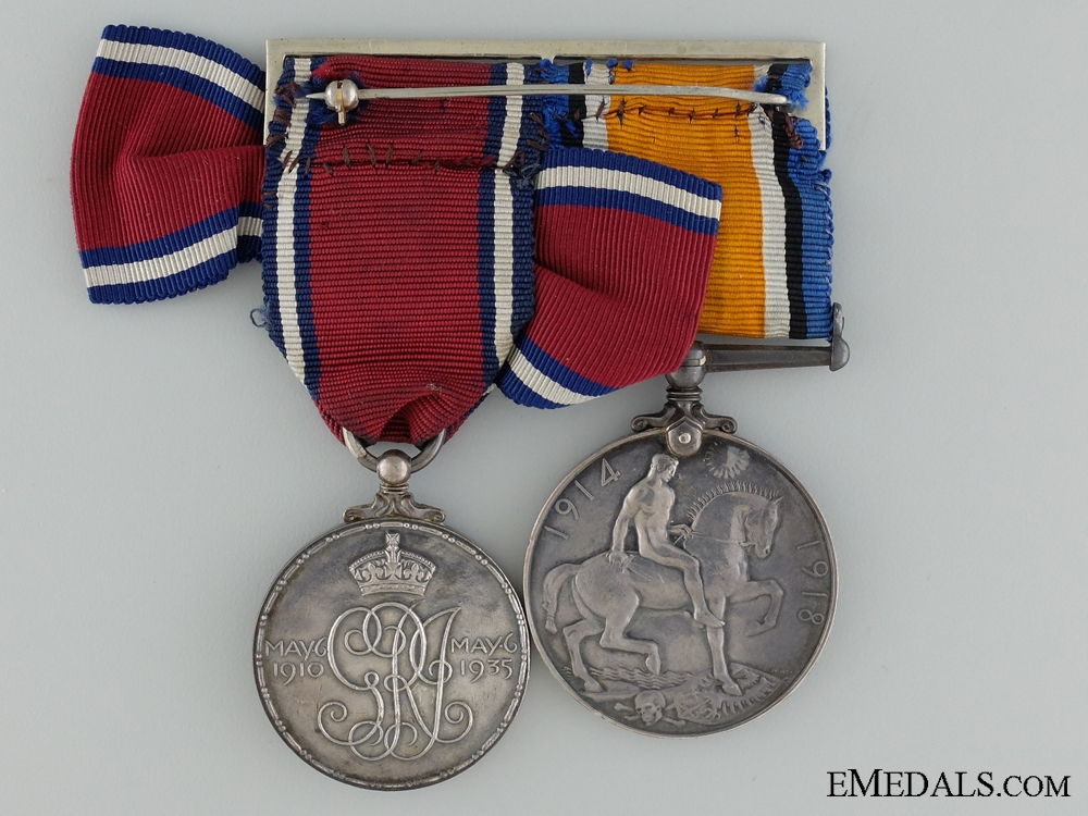 A First War Jubilee Medal Pair to Nursing Sister Birrell CEF
