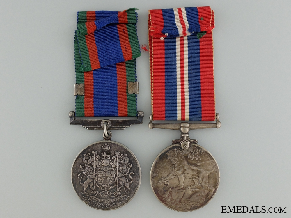 A Second War Medal Pair to LAC Brown Royal Canadian Air Force