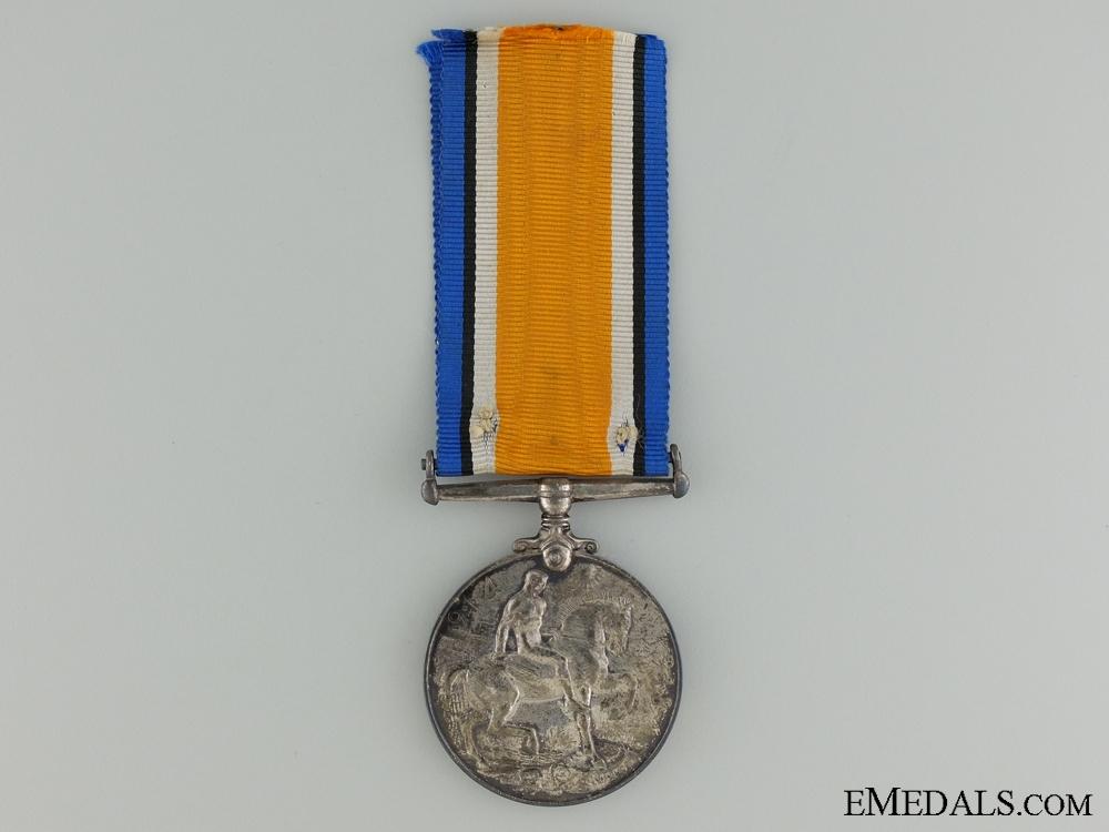 A First War British War Medal to the Saskatchewan Regiment