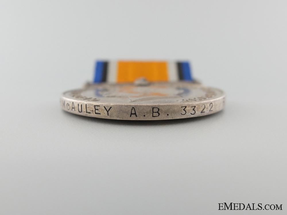 WWI British War Medal to the Royal Naval Canadian Volunteer Reserve