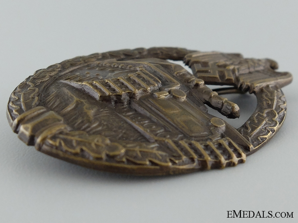 An Early Tombac Tank Badge; Bronze Grade