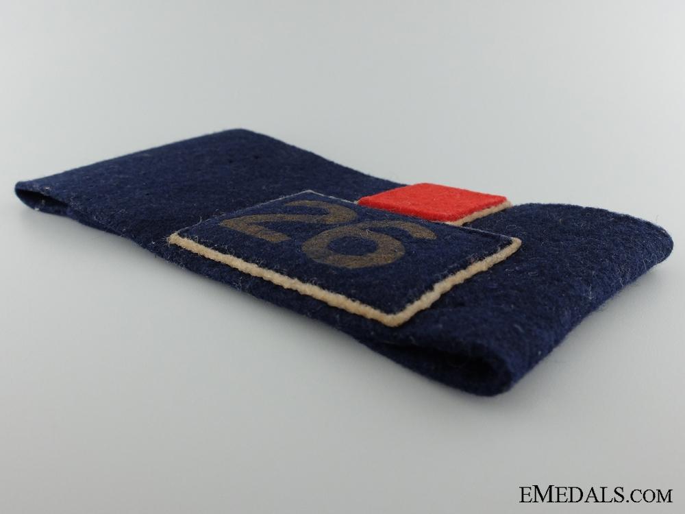 WWI 26th Battalion Canadian Corps Reunion Armband Toronto 1938
