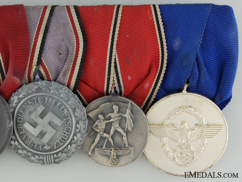 WWII German Medal Bar of Five Awards