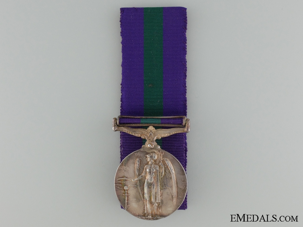 A General Service Medal to the Royal Berkshire Regiment