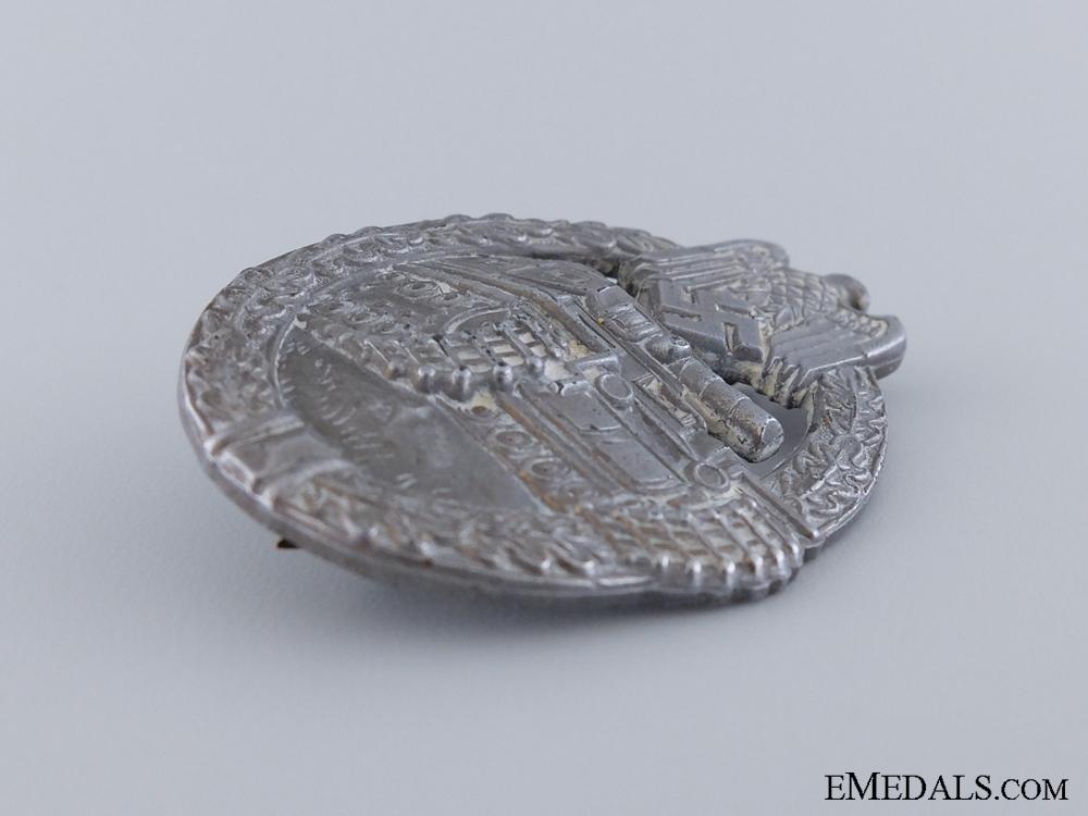 A Silver Grade Tank Badge by E. F. Wiedmann
