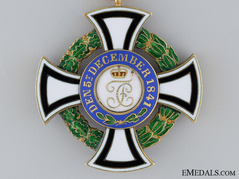 Hohenzollern, House Order of Hohenzollern; Honour Cross Second Class, in Gold