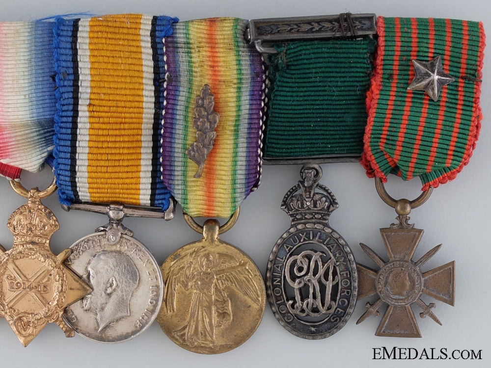 A Distinguished Service Order Miniature Group of Seven