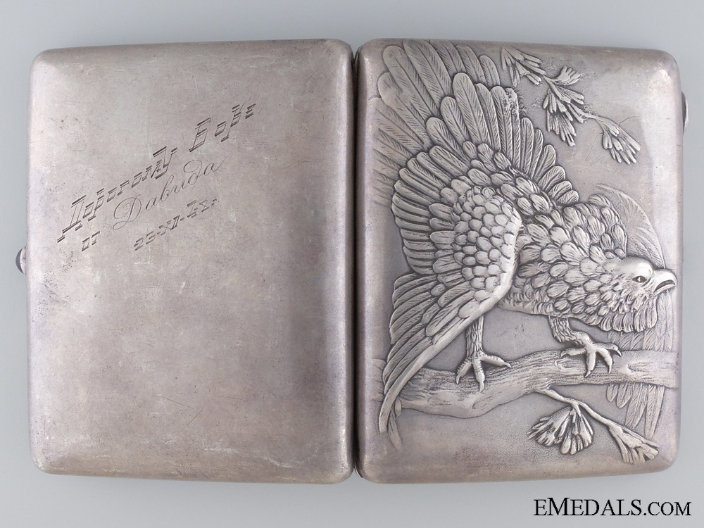 A Russian Silver Hunters Cigarette Case