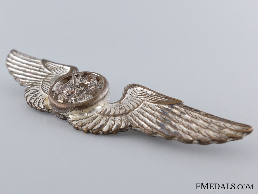 WWII Army Air Force Air Crew Badge; Pacific Theatre Made
