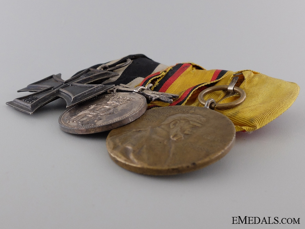 A Reuss First War Medal Bar with Three Awards