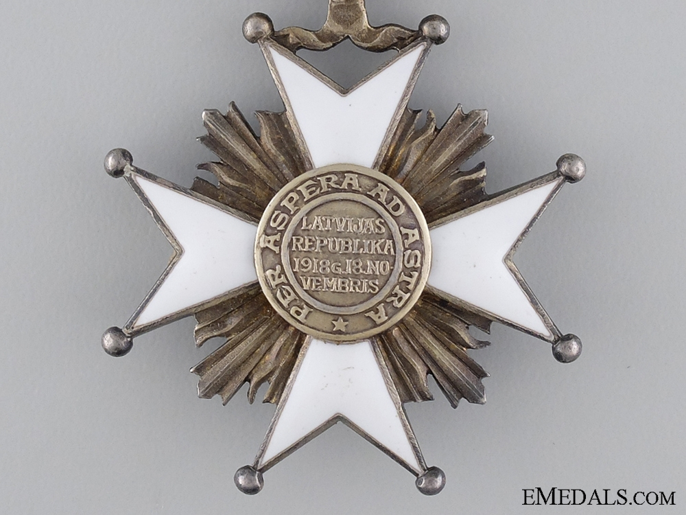 A Latvian Order of the Three Stars; Knight's Breast Badge