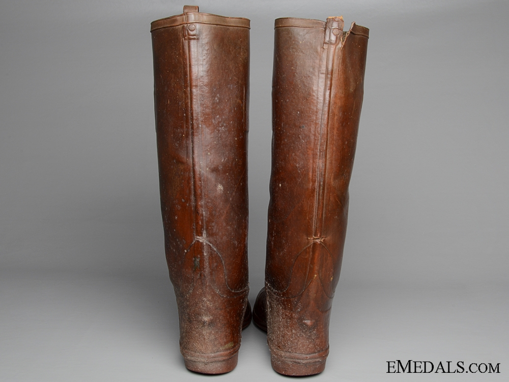 A Scarce Pair of First War CEF Officer's Rubber Trench Boots