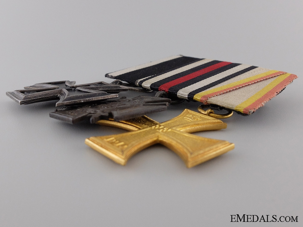 A First War German Imperial Medal Bar with an Iron Cross by Godet