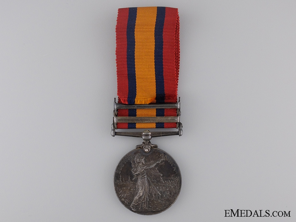 A Queen's South Africa Medal to a French Canadian; Can.M.R.