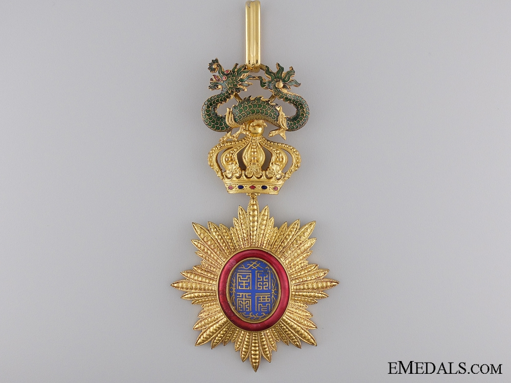 A French Colonial Order of Dragon of Annam; Commander's Cross