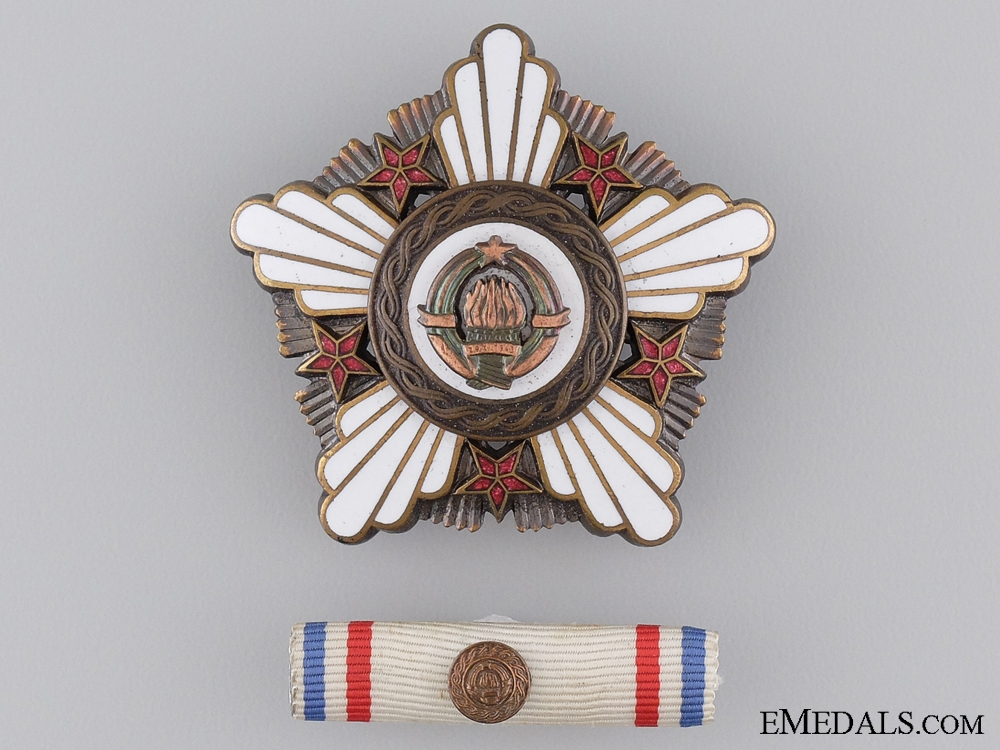 A Yugoslavian Order of the Republic with Bronze Wreath