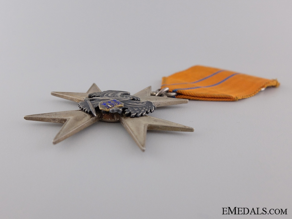 A Estonian Order of the Eagle; Silver Merit Cross