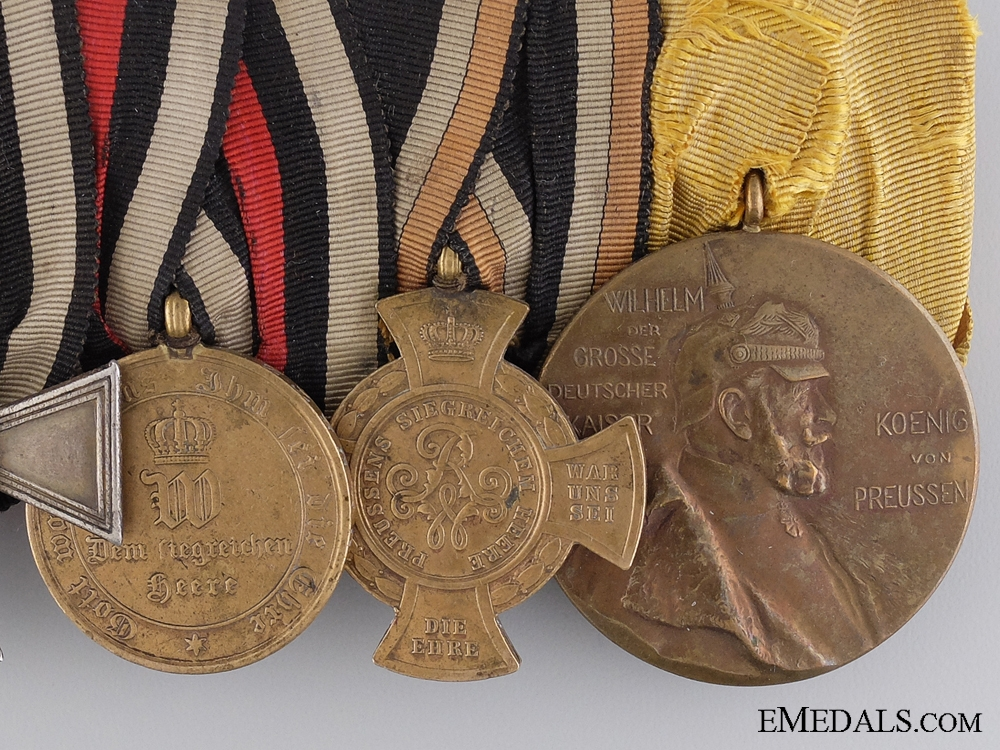 A Fine Franco-Prussian Group of Five with Military Honour Cross