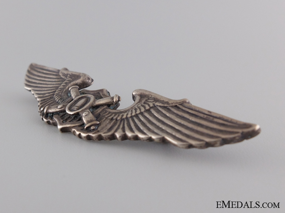A Rare American WWII Unofficial Observer or Liaison Wings Badge