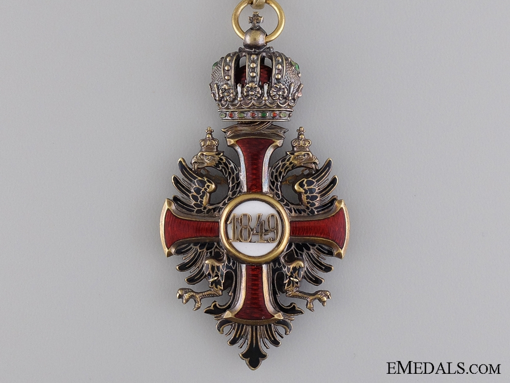 Order of Franz Joseph in Gold; Commander's Neck Cross