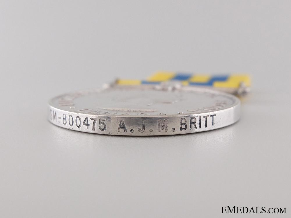A Canadian Korea War Medal to A.J.M. Britt
