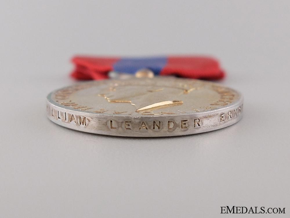 Imperial Service Medal to William Leander Ernst
