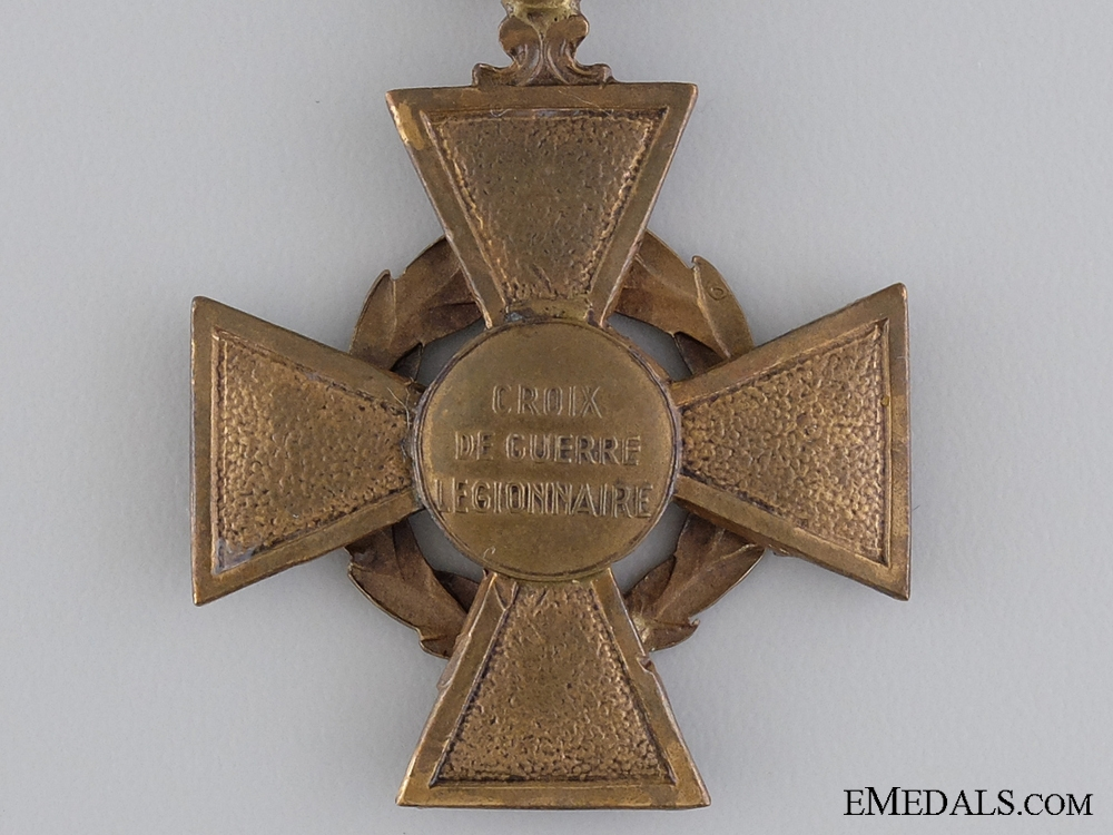 A Rare Vichy Government WWII Croix de Guerre