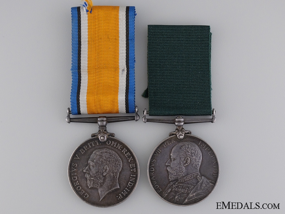 A Colonial Long Service Medal Pair to Colour Sergeant Chandler