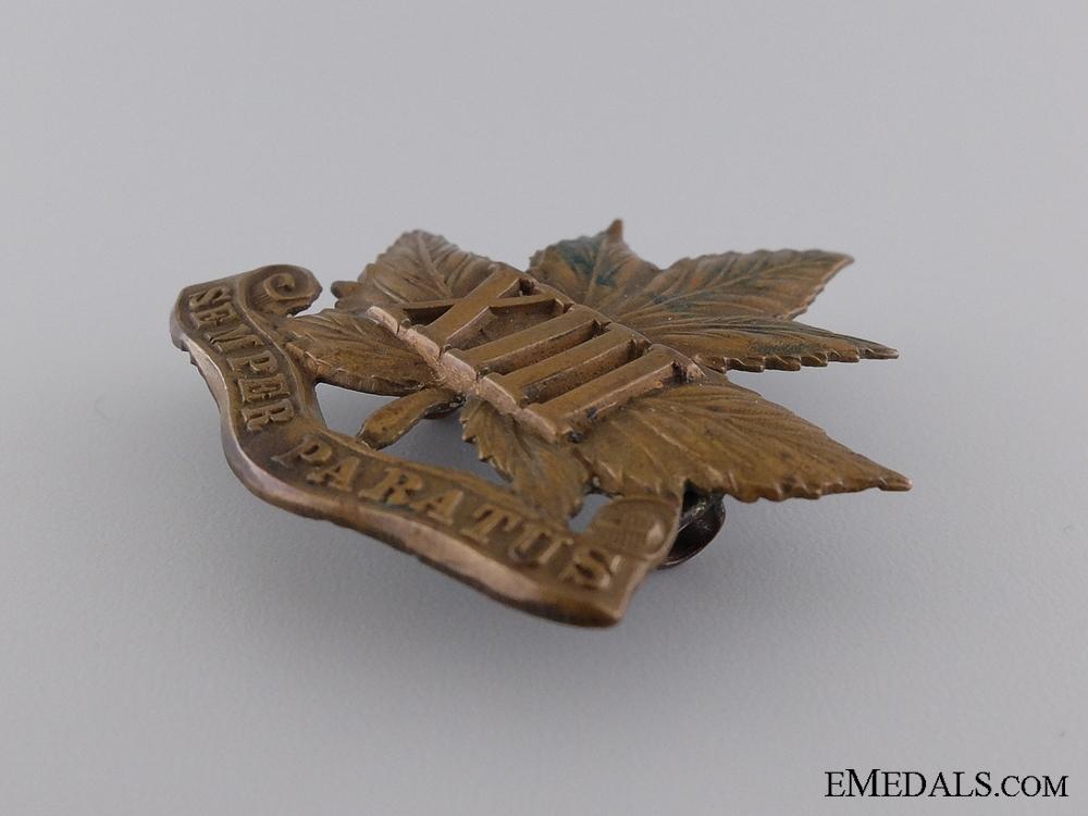 A 13th Regiment Glengarry Cap Badge c.1909