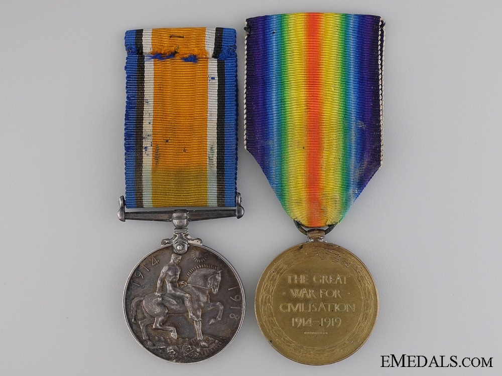 A First War Medal Pair to the Canadian Field Artillery