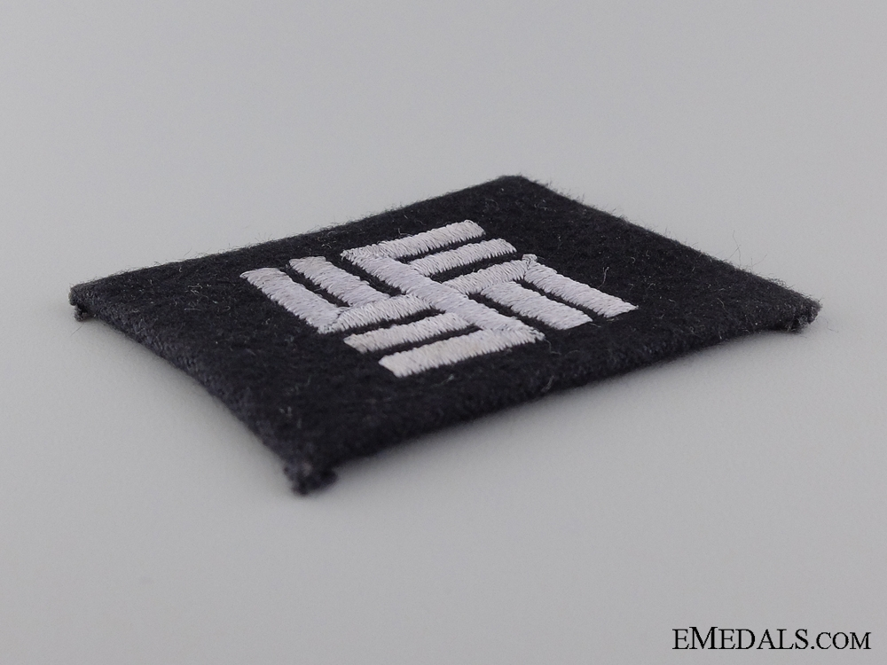 An SS Camp Personnel Collar Tab