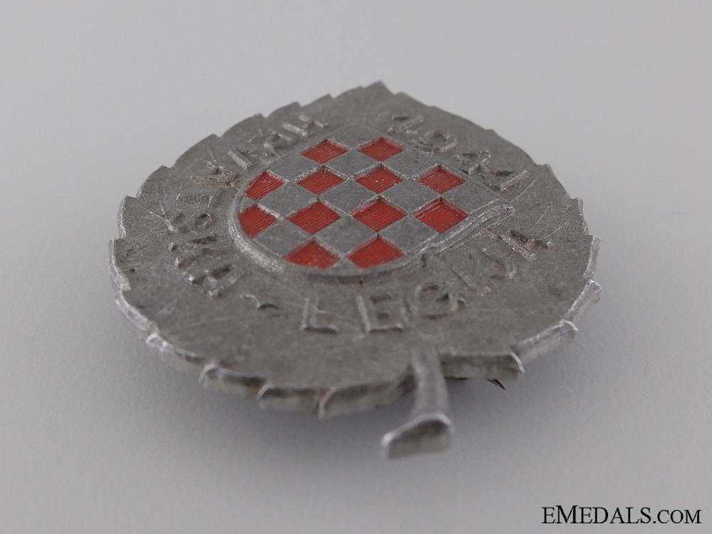 A Second War Croatian Legion Award