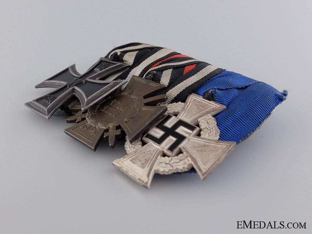 A First War & Faithful Service Medal Bar