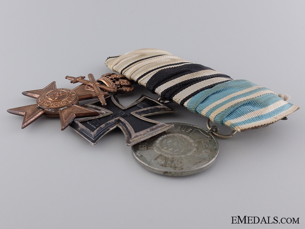 A Bavarian WWI Veteran's Group of Three Awards