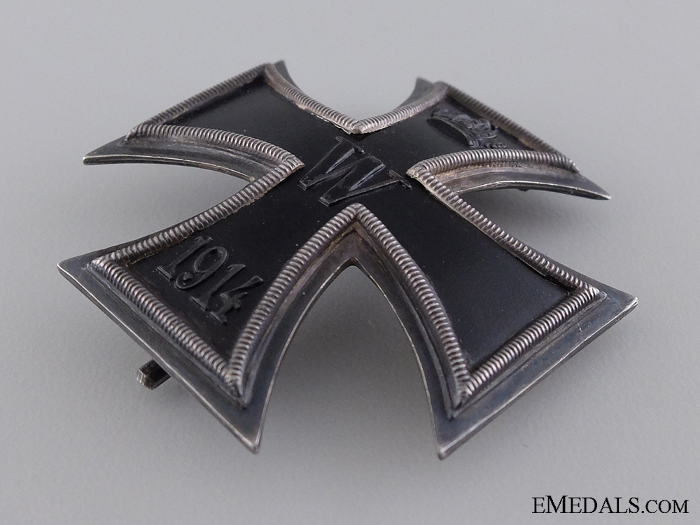 An Iron Cross First Class; Marked 800 Silver
