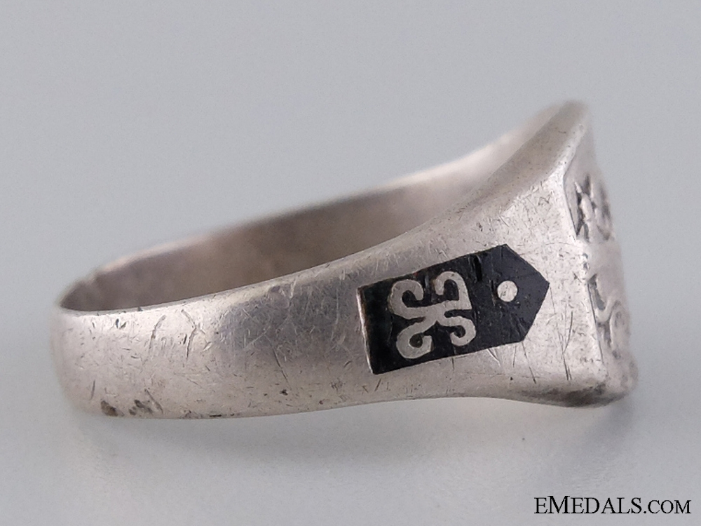 An Extremely Rare WWI Military Car Driver's Silver Ring