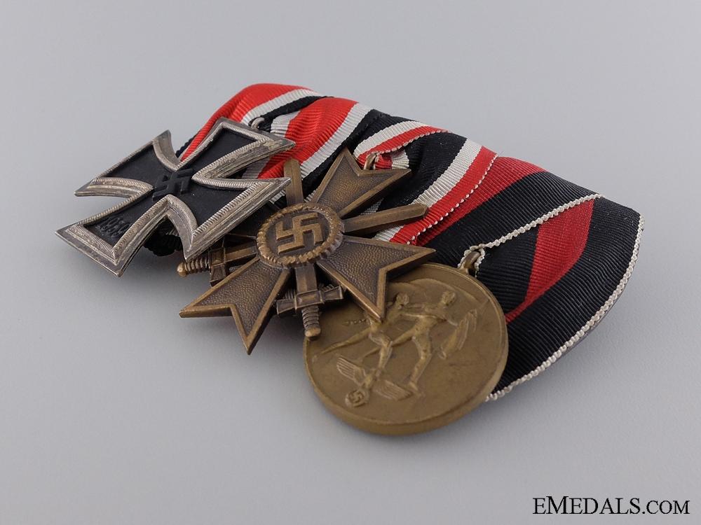 A Second War Iron Cross Medal Bar