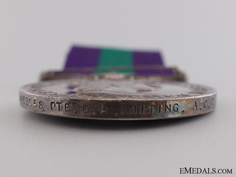 A General Service Medal 1918-1962 to the Army Catering Corps