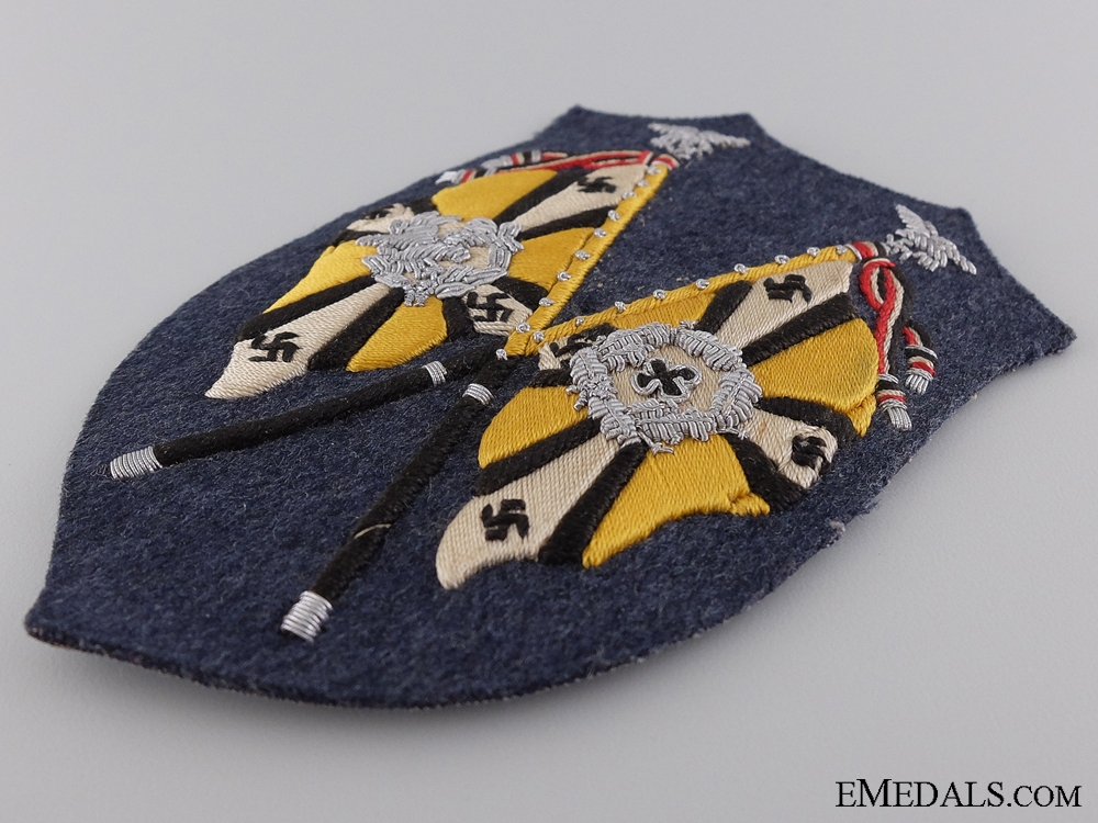 A Rare Luftwaffe Flying Branch Units Flag Bearer's Arm Shield