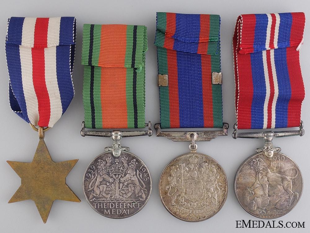 A Father & Son Medal Group; Canadian Machine Gun Brigade