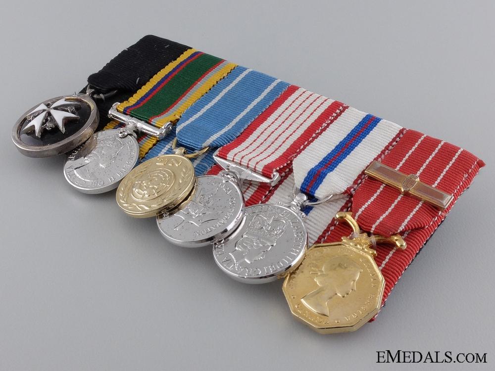 A Modern Canadian Miniature Medal Bar