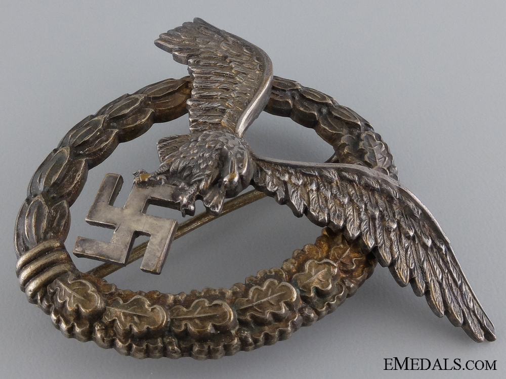 An Early Luftwaffe Pilot's Badge Named to Klalber