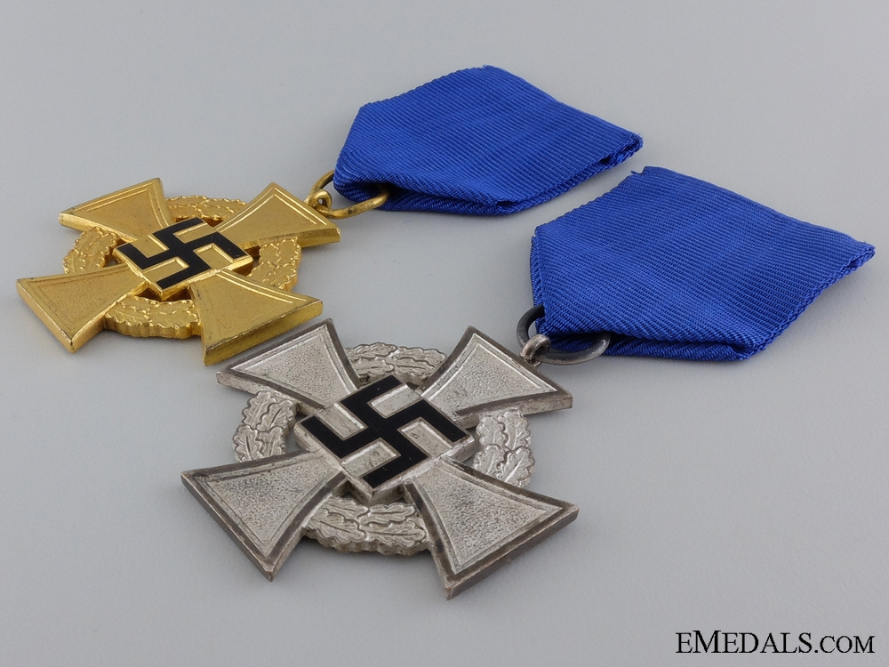 Two Second War Faithful Service Crosses