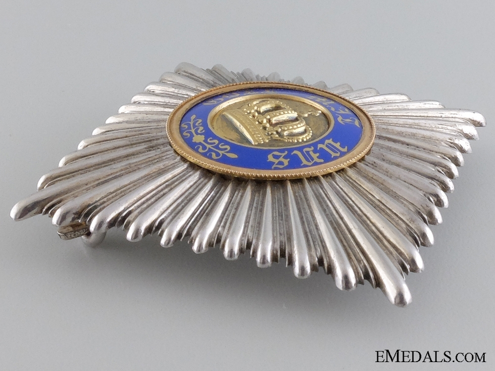A Prussian Crown Order; Breast Star by Wagner