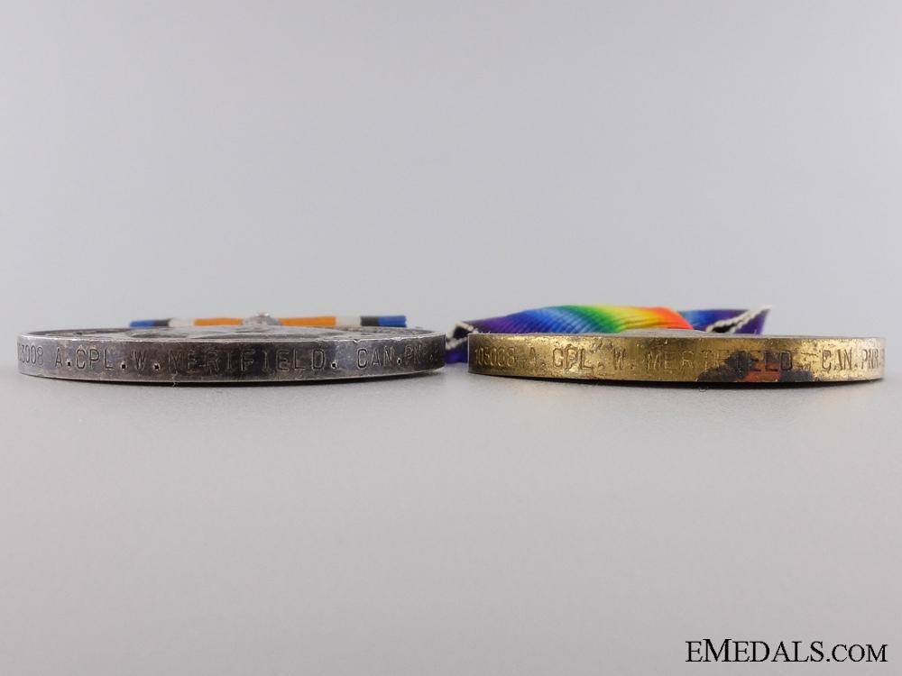 A First War Canadian Medal Pair to an Australian