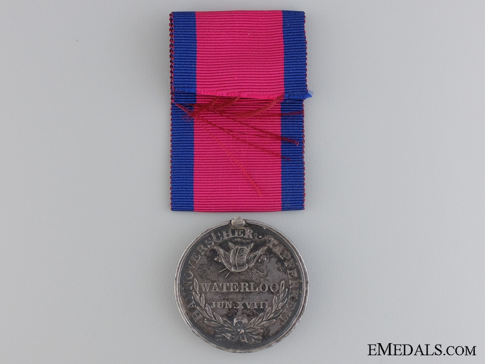 A Hanover Waterloo Medal to Lieutenant Lyra; Osnabruck Battalion