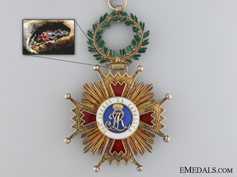 A Spanish Order of Isabella; 1875-1931 Commanders Cross